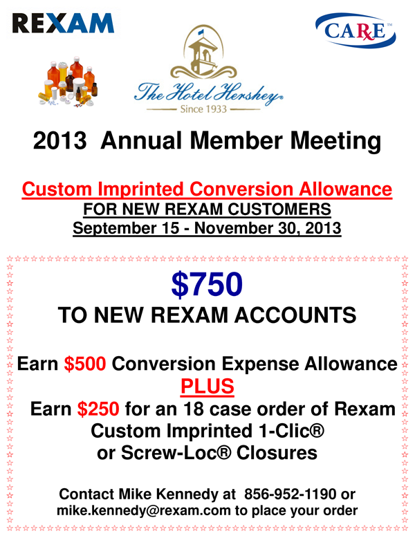 Rexam Exhibitor Deals